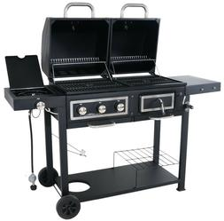 Gas And Charcoal Grill Combo Brat Party Meat BBQ Griller Bes