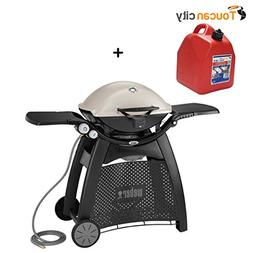 Toucan City Gas Can and Weber Q 3200 2-Burner Natural Gas Gr