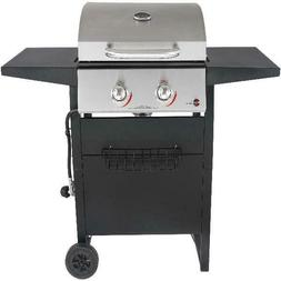 GAS GRILL 2 BURNER BBQ Backyard Patio Stainless Steel Barbec