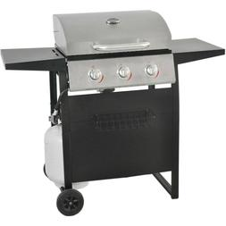 Gas Grill 3 Burner BBQ Backyard Patio W/ Cooking Surface LP