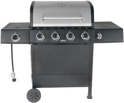 Gas Grill 4 Burner with Side Burner Family Outdoor Patio Bac