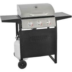 Gas Grill BBQ Propane 3-Burner Stainless Steel Backyard Outd