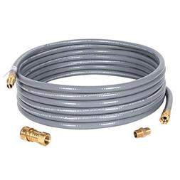 GasSaf 12 Feet Natural Gas Grill Hose with Quick Connect Fit