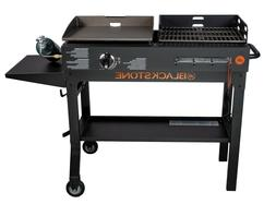 Griddle and Charcoal Grill Combo Flat Top Gas Hibachi Statio