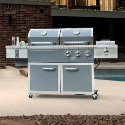 Hybrid Outdoor Grill Best XL Large Pellet Propane Gas Combo