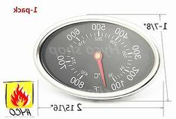 VICOOL Replacement Lid Thermometer Gas Grill Stainless Steel