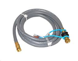 "10' By 3/8"" Id Stripwound Hose Natural Gas Hose Kit with Qui"