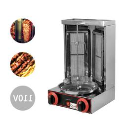 Kebab Gyro Grill Machine Gas Vertical Broiler Shawarma Machi