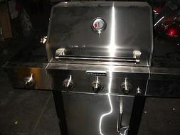 Kitchen-Aid 3-Burner Propane Gas Grill with Side Burner - Lo