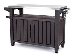 Outdoor Kitchen Cabinets Island Grill Buffet Table Prep Stat