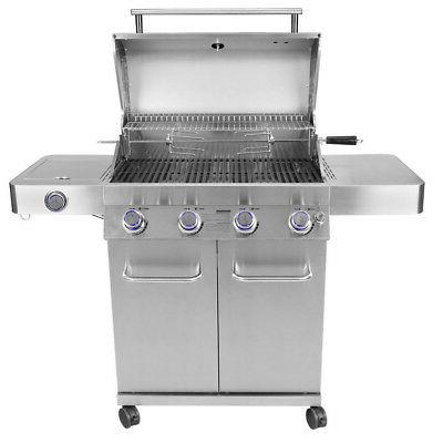 Monument Grills 17842 Steel 4 Burner Gas with Rotisserie