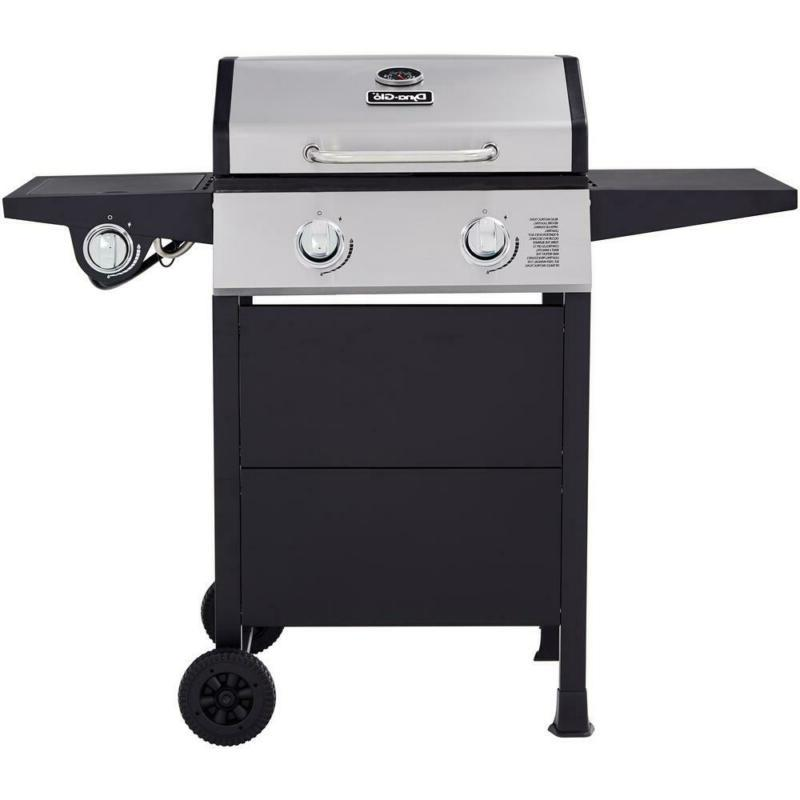 2 burner open cart propane gas grill