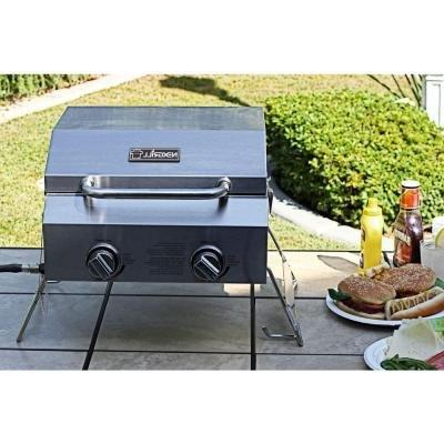 2-Burner Portable Gas Table Top Stainless
