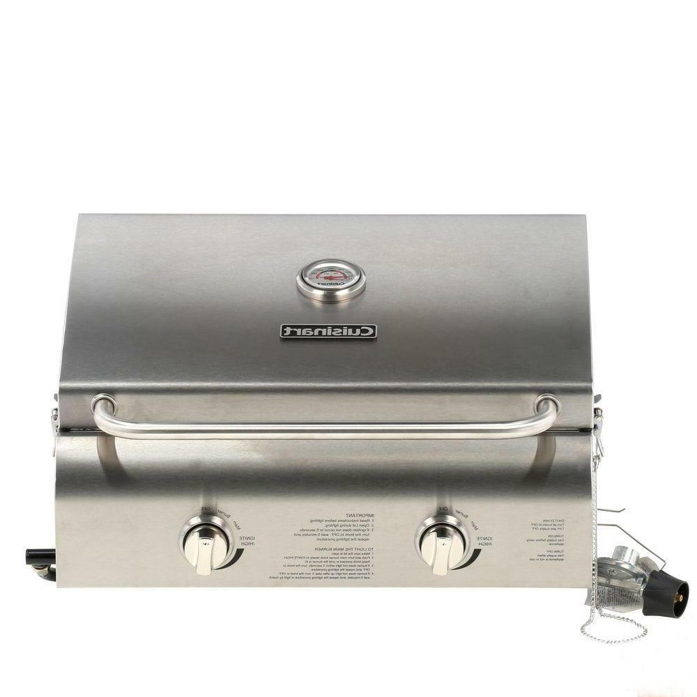 2 burner professional portable propane gas grill