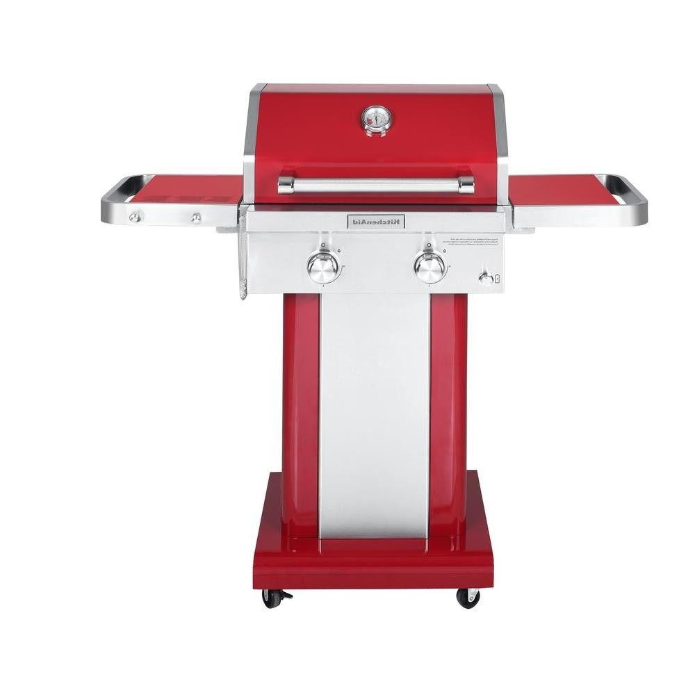 KitchenAid 2-Burner Propane Gas Grill in Red, New in Box