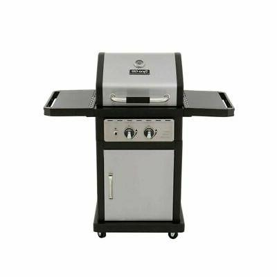 2 burner propane gas grill stainless steel