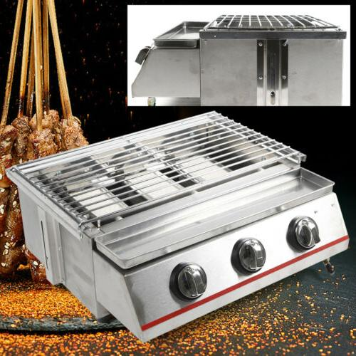 3 Burner BBQ Steel Outdoor Cooking
