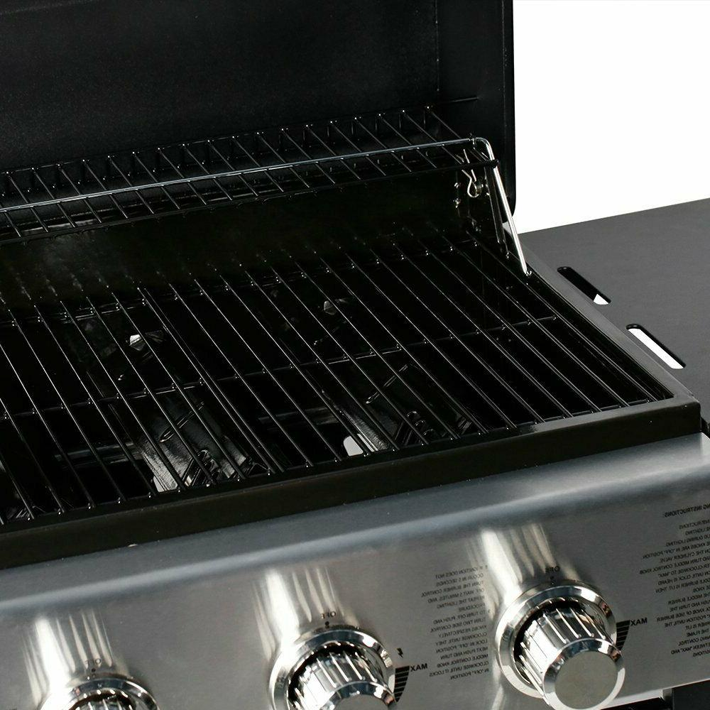 3 BBQ Gas Outdoor Camping Black