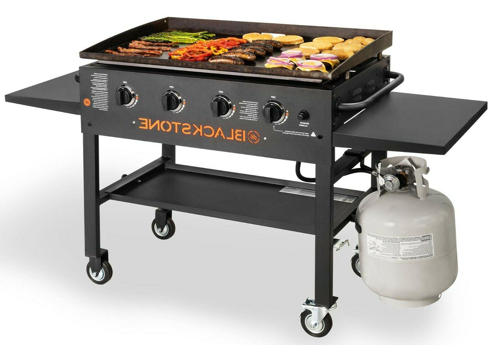 36 in griddle cooking station 4 burner