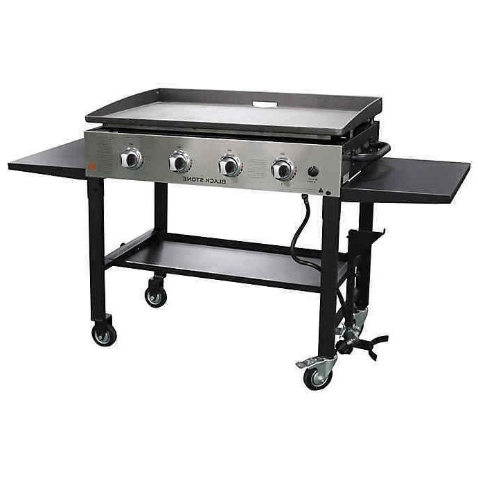 36in 4 burner gas griddle grill stainless
