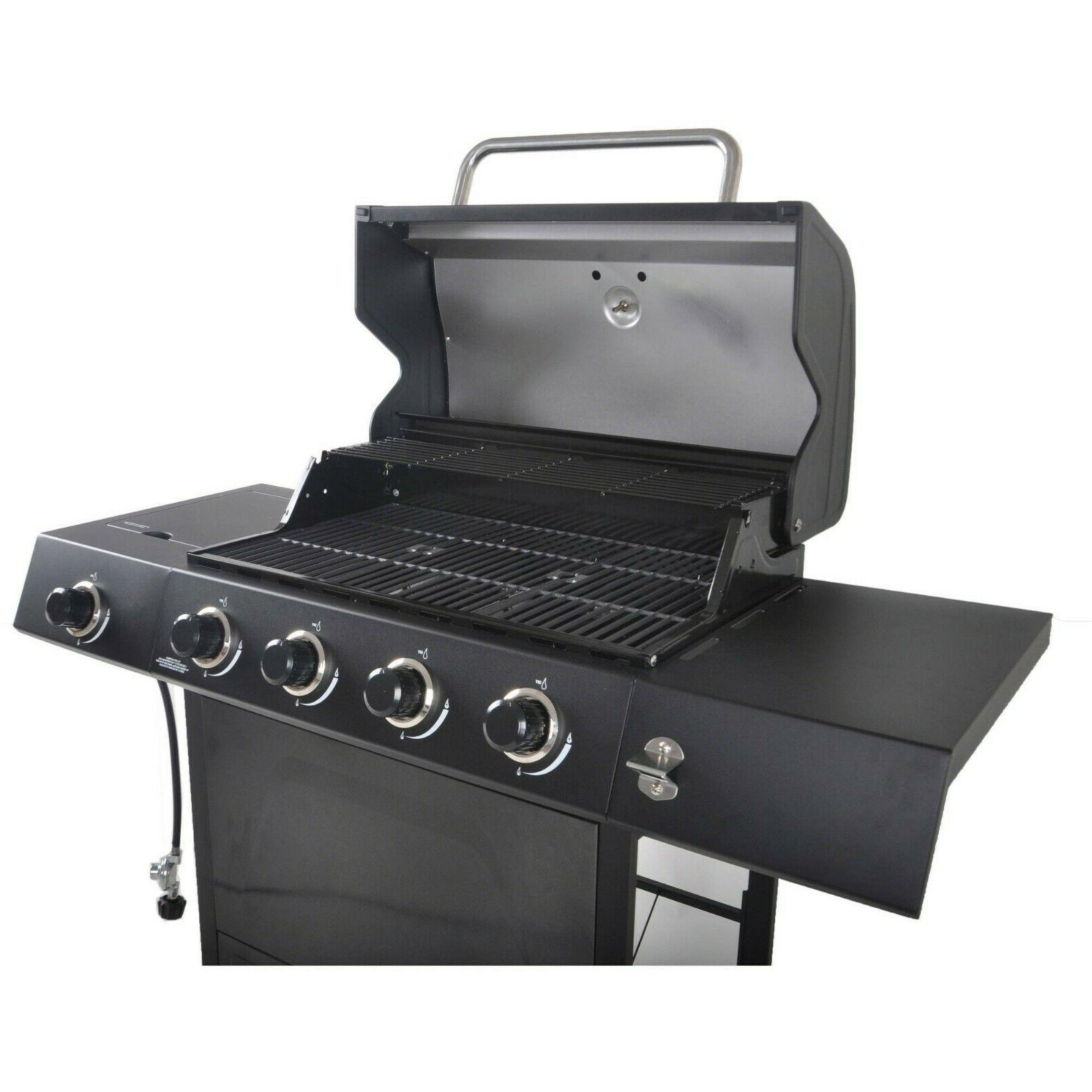 grill with side burner revoace 4 burner