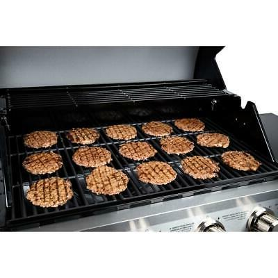 4-Burner Cart Gas Grill Steel with