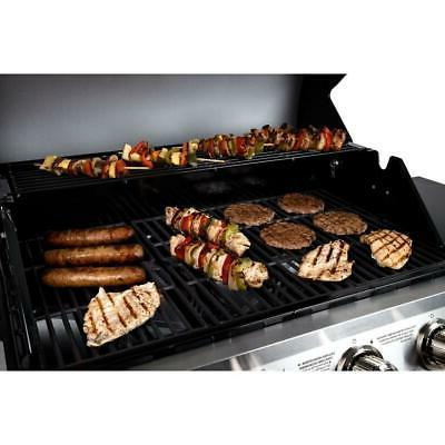 4-Burner Propane Gas Grill Steel Burner