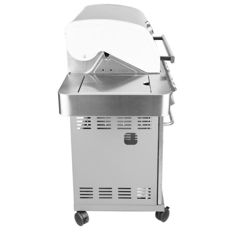 4-Burner Propane Grill in Stainless with Sear Bu