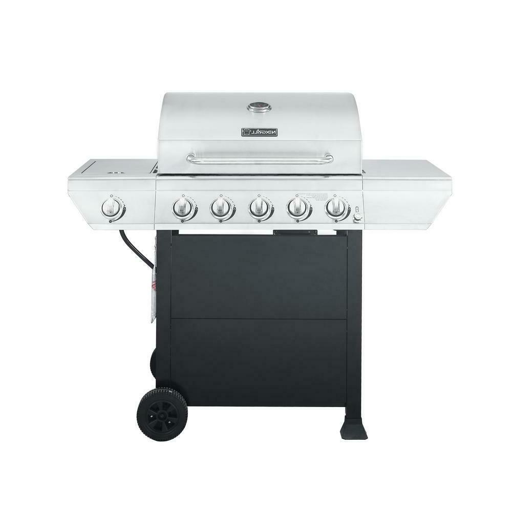 propane gas grill 5 burner stainless steel