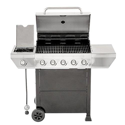 in Stainless Steel with Side Burner Cabinet