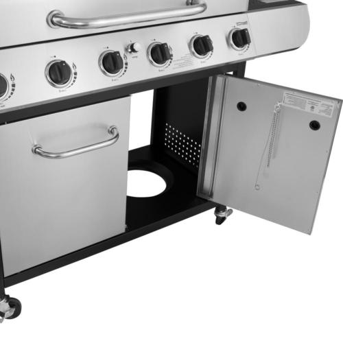 6 Propane Gas Grill Stainless Steel with