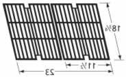 Music City Metals 63012 Gloss Cast Iron Cooking Grid Replace