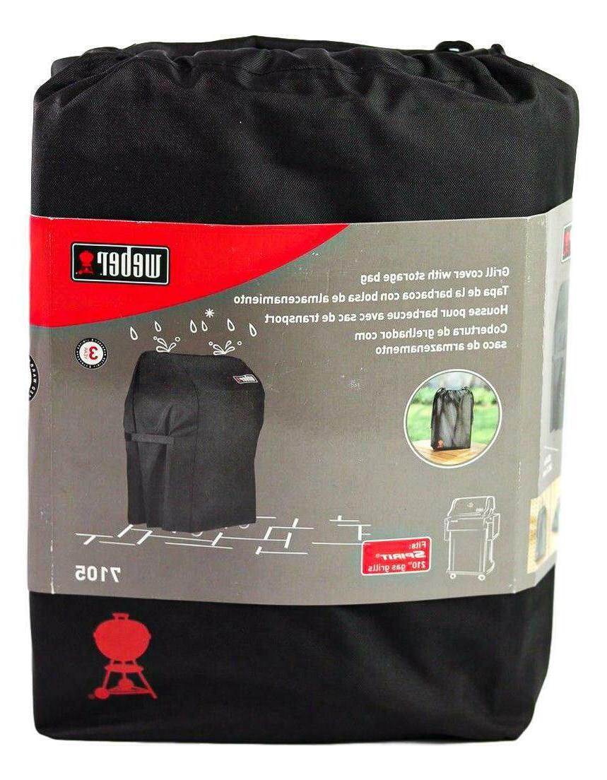 Weber 7105 Grill Cover with Storage Bag For Spirit 210 Gas G
