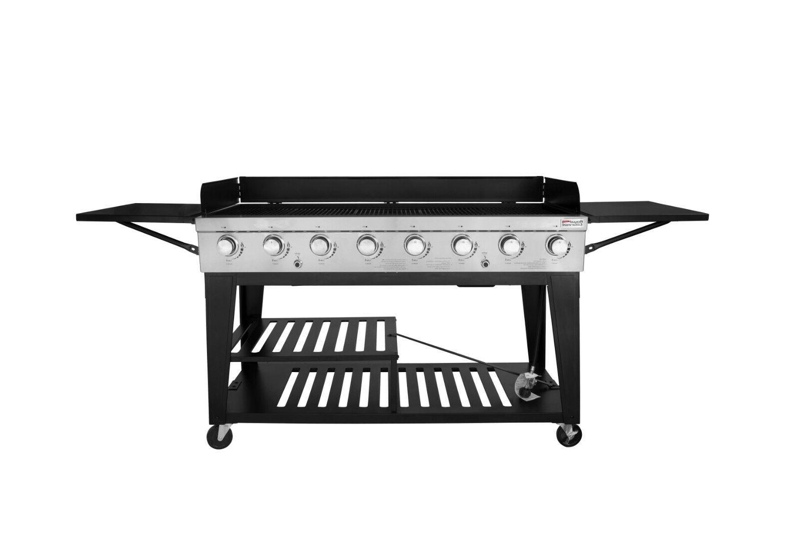 8 burner bbq propane gas grill stainless