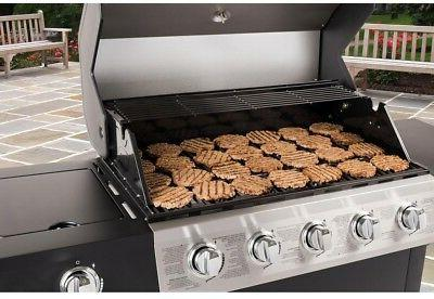 Dyna-Glo Grill Propane Gas BBQ 5-Burner Open Cart Stainless Black