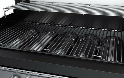 5 Burner Natural GAS GRILL, Black