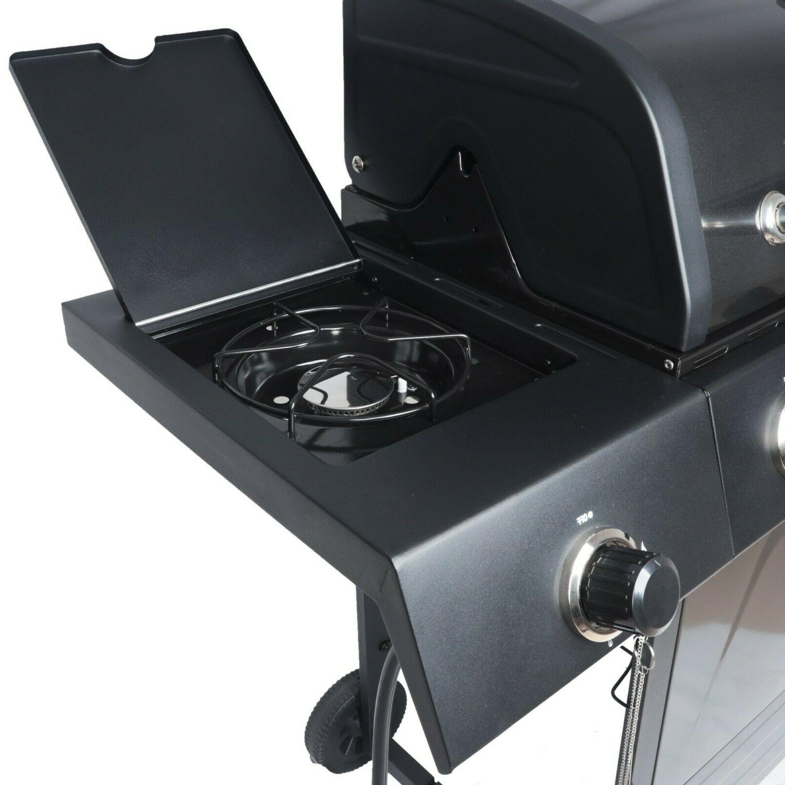 Best Gas Grill 4 Burner Portable Backyard Bbq