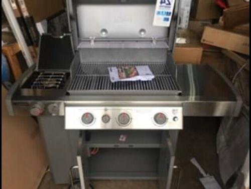 Dented Weber Genesis II S-335 Stainless Gas Grill