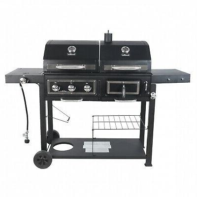 Dual Combo Grill Cast Outdoor BBQ 3