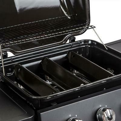 Dyna-Glo 3-Stainless Steel Burners Open Cart in