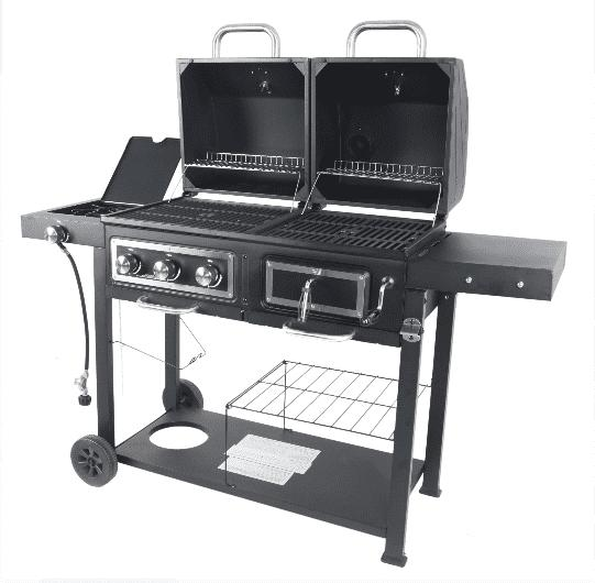 GAS CHARCOAL OUTDOOR COMBO GRILL Dual Fuel, Stainless