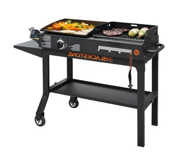 gas griddle charcoal grill combo flat top