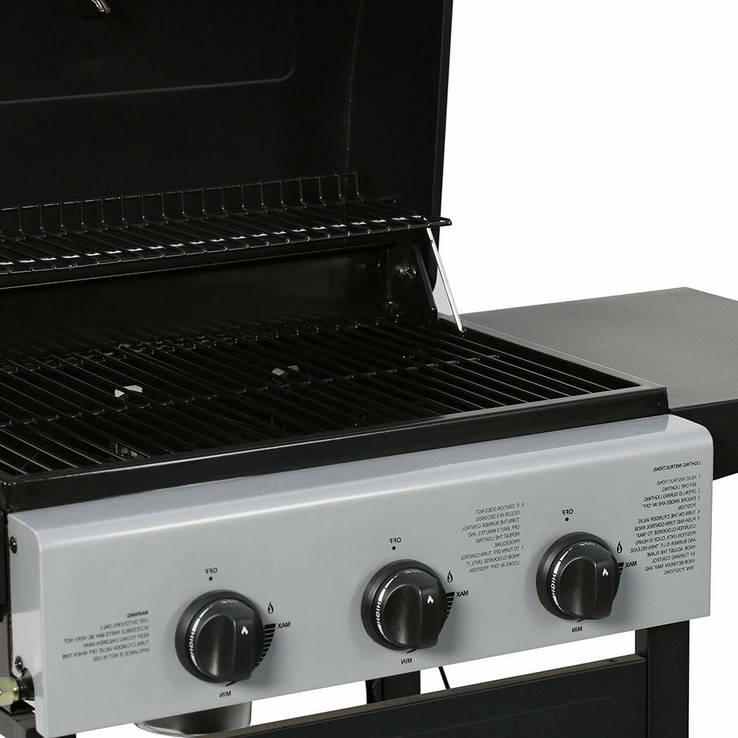 MASTER COOK Classic Liquid Propane Gas 3 Bunner with Black