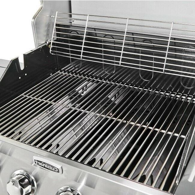 Gas BBQ Steel Propane Barbeque Cooking Side Burn