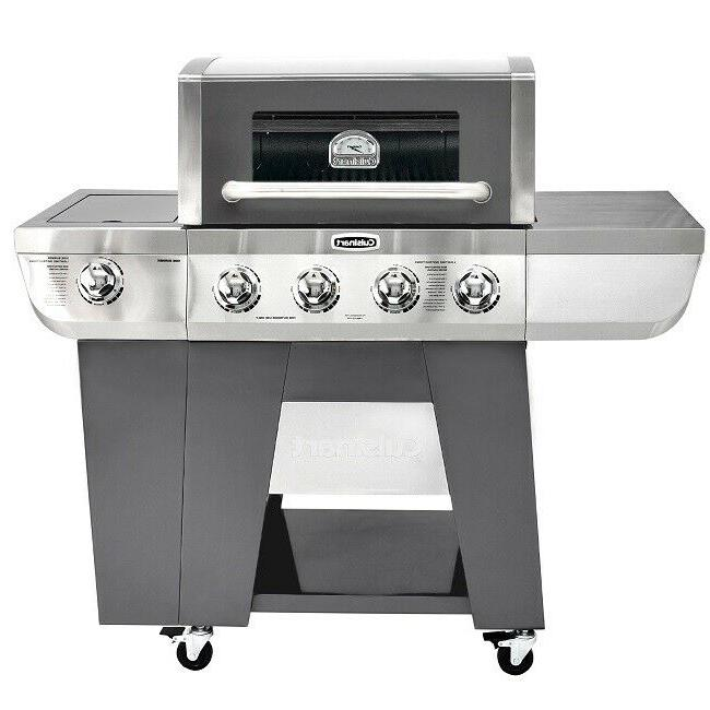 Gas Grill 4 BBQ Grills Steel Propane Barbeque Burn