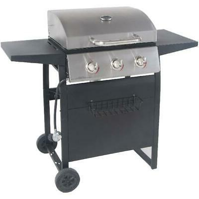 Gas BBQ 3-Burner Steel Outdoor