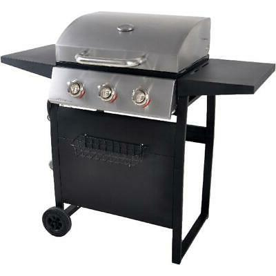 Gas BBQ 3-Burner Backyard Outdoor Cooking Compact