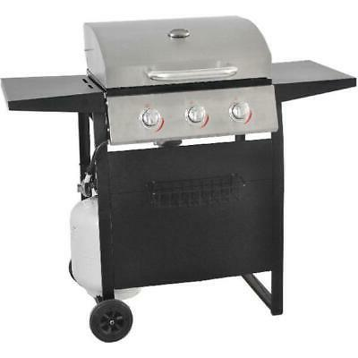 gas grill bbq propane 3 burner stainless