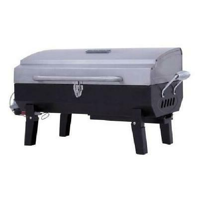 Char-Broil Deluxe Tabletop 10,000 BTU Gas Grill Stainless Steel
