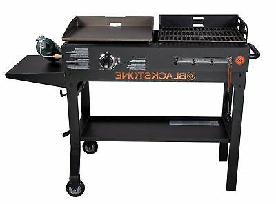 Blackstone Griddle and Grill Combo Flat Top Gas Hibachi Station